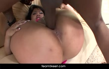 Asian chick Kya Tropic fucked hard by big black dick