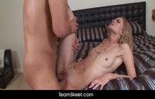 Slim Michelle Honeywell moans loud for TeamSkeet.com