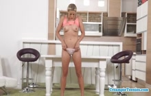 Blonde Delivers Anal Creampie