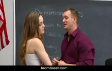 Sexy schoolgirl Monica Rise fucked by her teacher